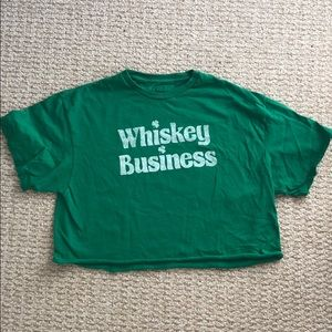"Freeze ""Whiskey Business"" Cropped Tee"